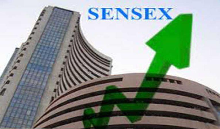 शेयर बाजार में बढ़त