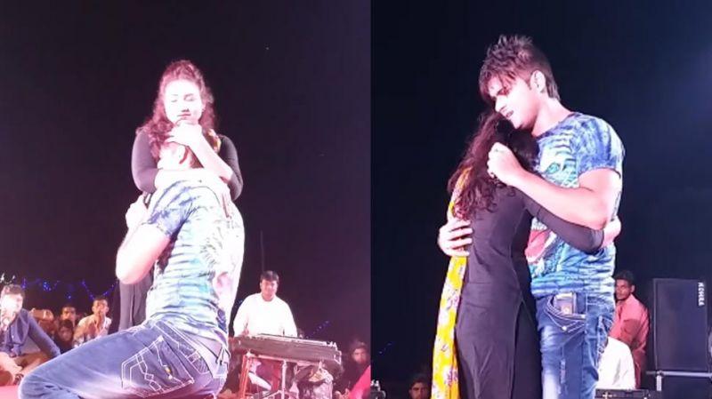 स्टेज शो के दौरान लड़की को गले लगाकर फूट-फूटकर रो पड़े 'कल्लू'