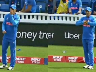 Watch Video: MS Dhoni comes for fielding after giving wicketkeeping gloves to Dinesh Karthik
